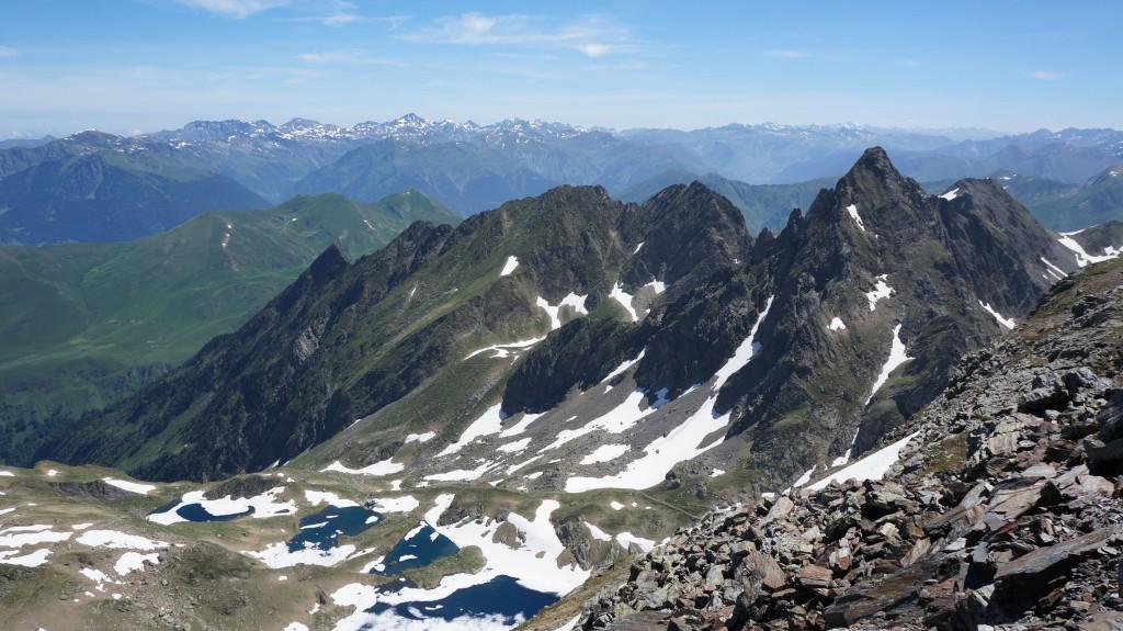 En 2014, Pic de la Mine vu depuis le Pic de Sauvegarde