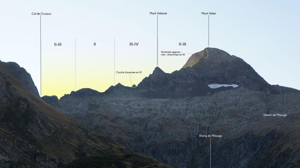 Mont Valier - Arête des Antiques