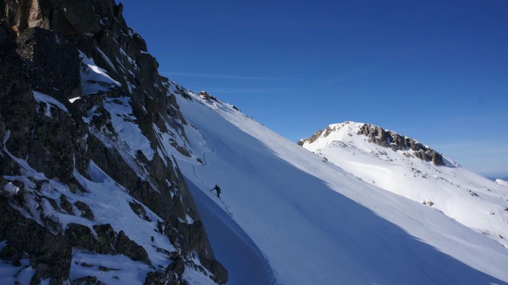 Passage côté nord jusqu'au sommet