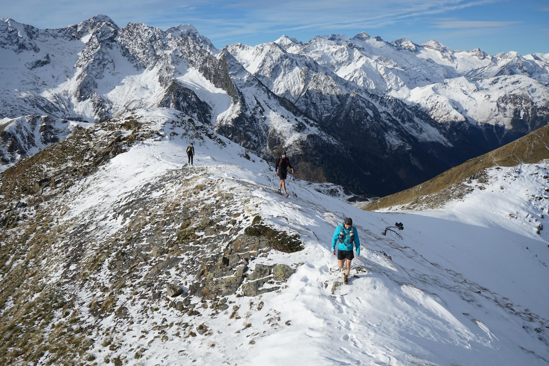 Pic de l'Entécade (2266 m) et soum de l'Escalette (2466 m) depuis l'Ermita de Mair de Diu