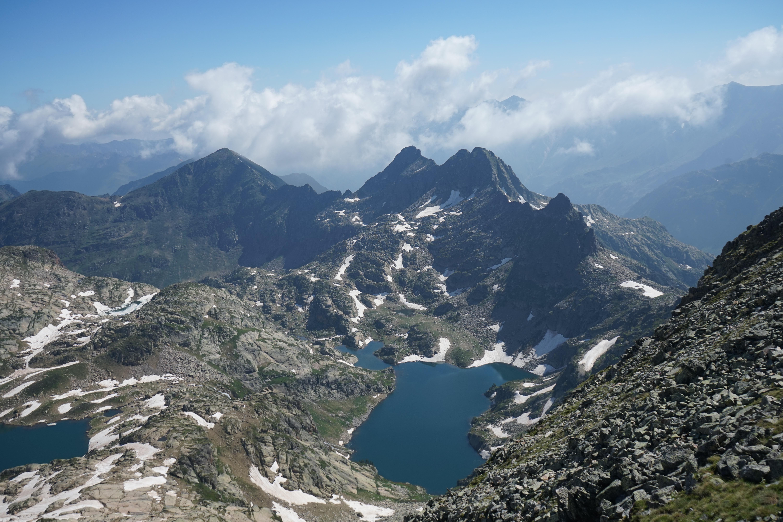 Pic d'Étang Faury (2702 m) – Pic d'Esquine d'Ase (2706 m) depuis Mérens-d'en-Haut
