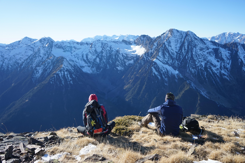 Pic de Berdalade (2703 m) – Pic de Thou (2743 m) – Pic de la Haille (2730 m) depuis la vallée de Rioumajou