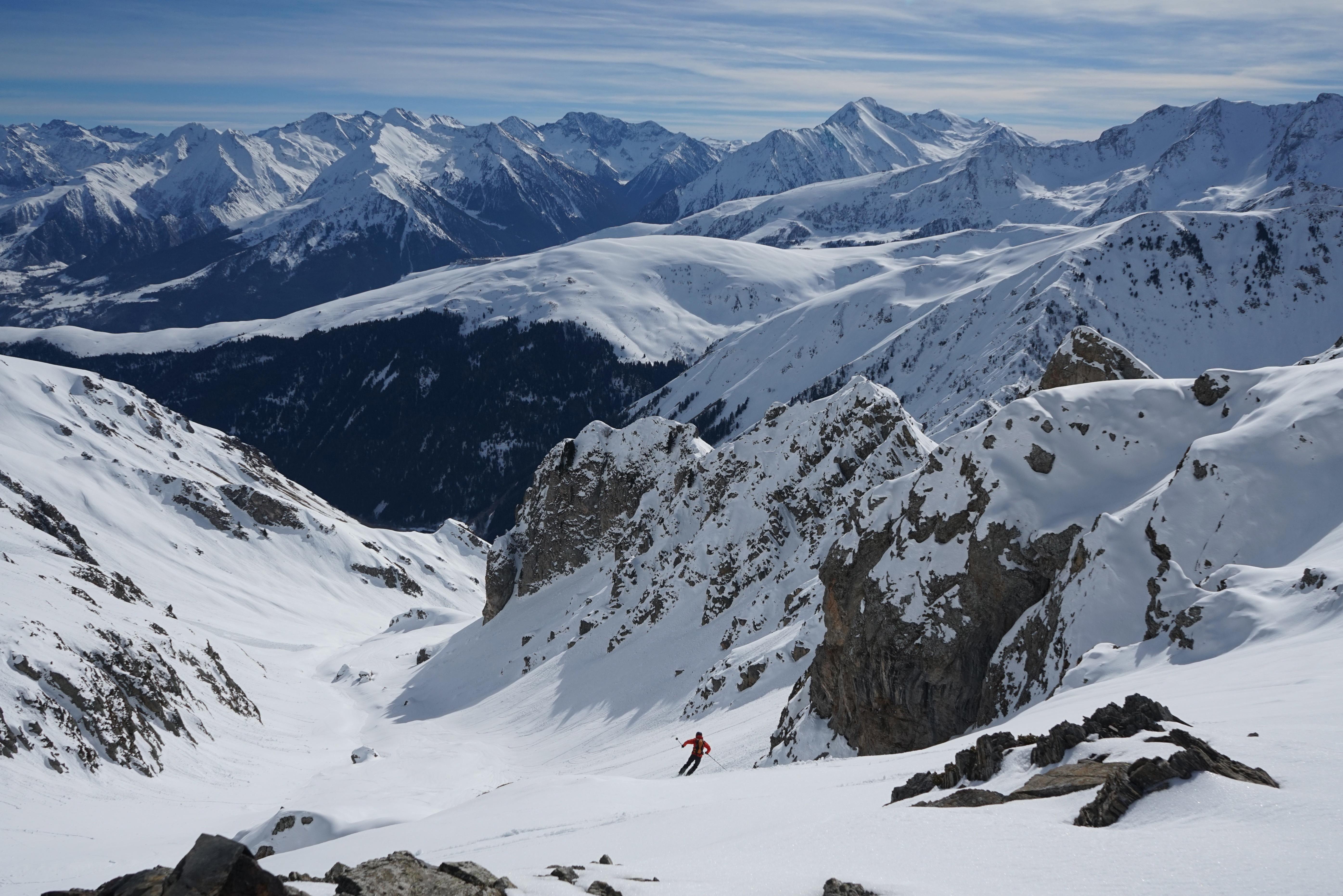 Pic de Monfaucon (2712 m) depuis les granges de Lurgues