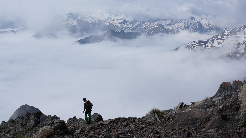 Pic Méchant (2944 m) depuis le plan d'Estaragne