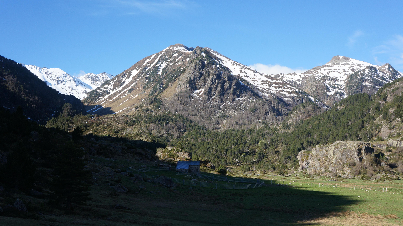 Pic de l'Estagnol (2567 m) depuis l'usine de Laparan