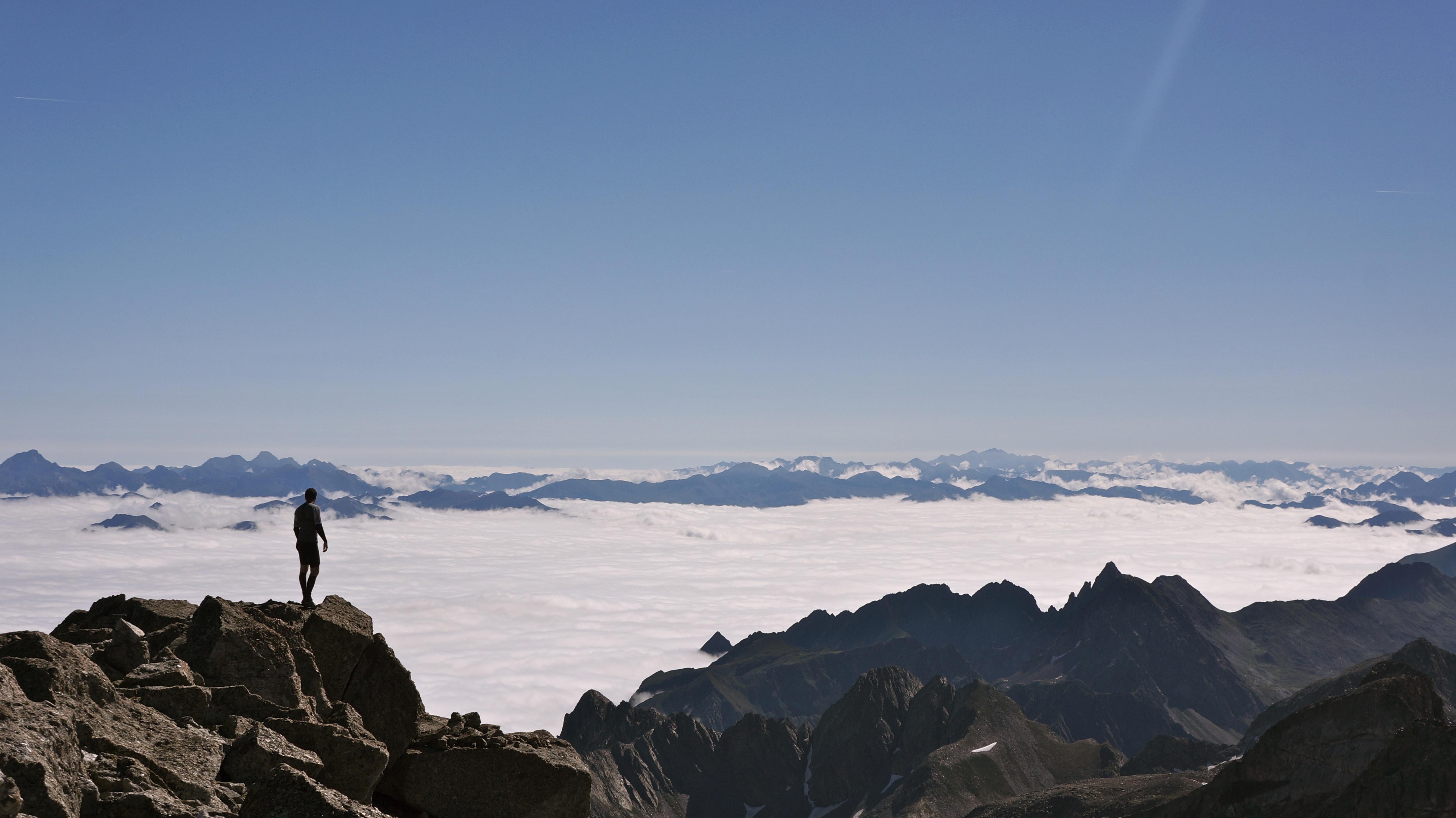 Pic de Maupas (3109 m) depuis l'auberge du Lis