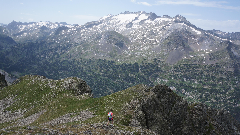 Pic de la Montagnette (2558 m) depuis l'Hospice de France
