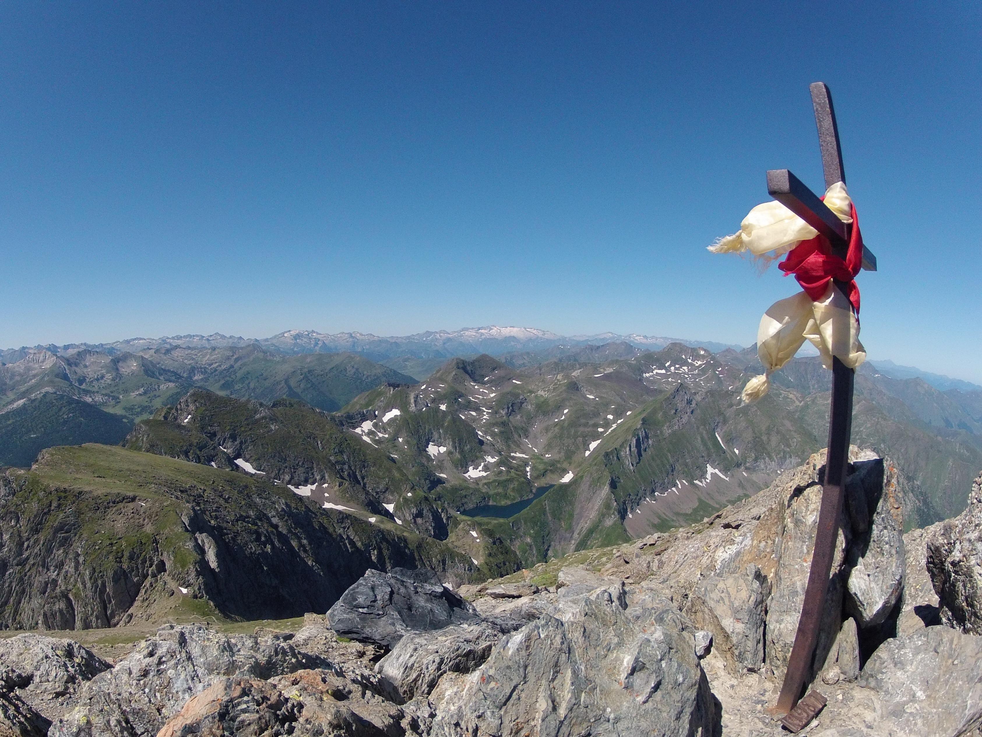 Mont Valier (2838 m) depuis le pla de la Lau
