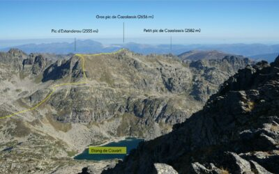 Pic de l'Albe (2764 m) – Gros pic de Cazalassis (2656 m) – Petit pic de Cazalassis (2582 m) depuis la piste des Esquerres